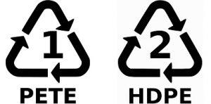 Logos PETE et HDPE