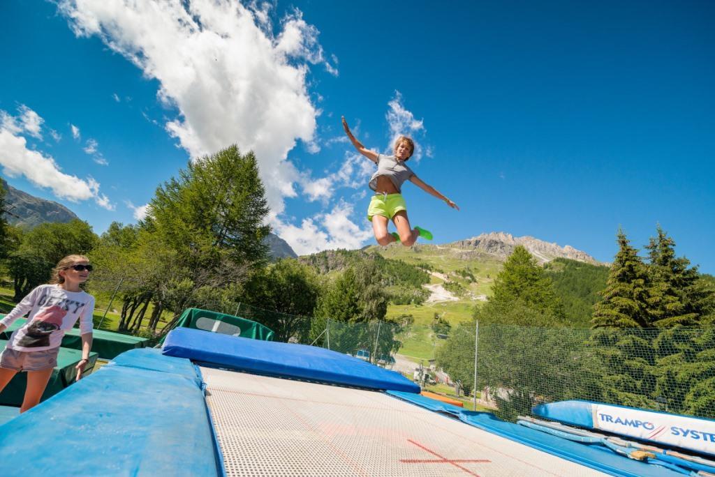 trampolinne à Val d'isère